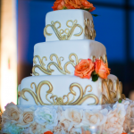 Gold Scroll Cake - Haute Cakes Austin