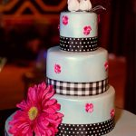 checkered blue cake haute cakes austin