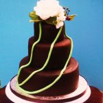 Chocolate rose cake - haute cakes austin SMALL