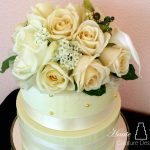 white rose wedding cake copy