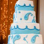paisley wedding cake - haute cakes austin