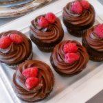 chocolate raspberry wedding cupcakes haute cakes austin