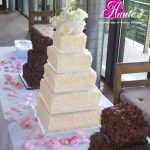 chocolate-shavings-white-wedding-cake-haute-cakes-austin